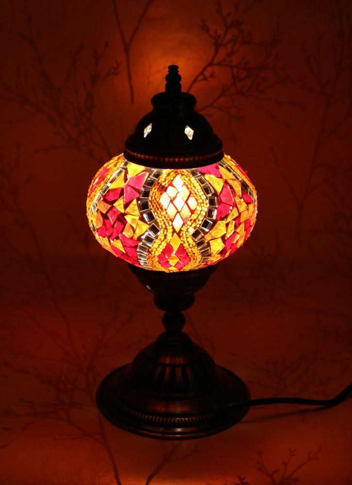 Multicolour Turkish Moroccan Style Mosaic Table Lamp Lampshade Hand Made