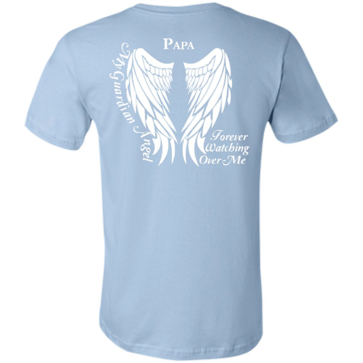 Papa Guardian Angel Bella + Canvas Unisex T-Shirt