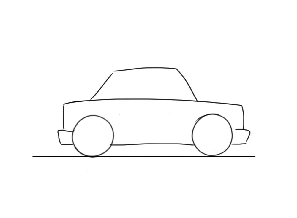 Very Easy Car To Draw For Little Kids In 2019 Art Easy Drawings