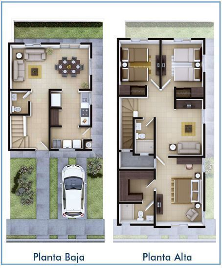 Planos De Casas De Dos Pisos Buscar Con Google Bungalow House Design Small House Design Plans House Styles