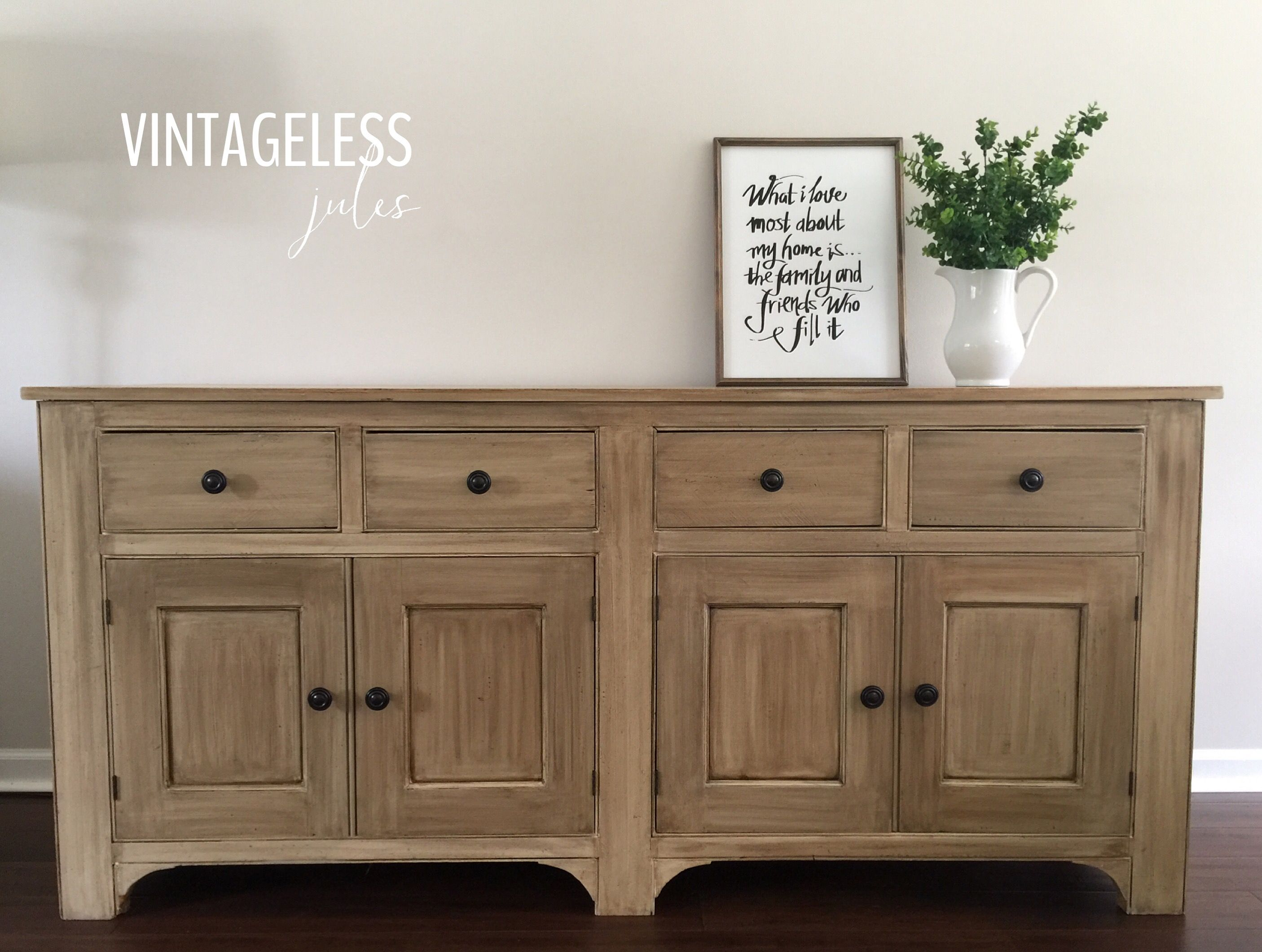 how to make furniture look rustic with chalk paint