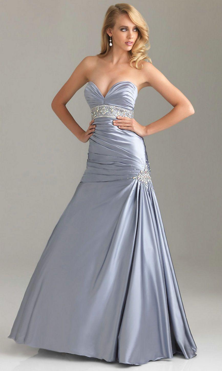 Prom dress silver uk