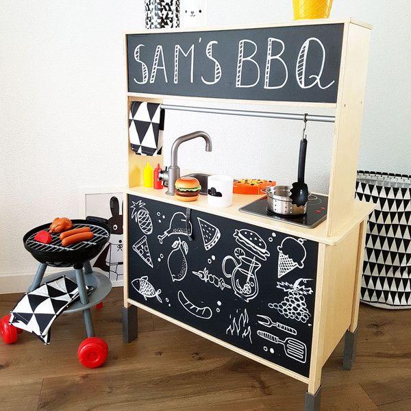 Tafelfolie TAFFLA für die IKEA Kinderküche DUKTIG Ikea hack - küche bei ikea kaufen