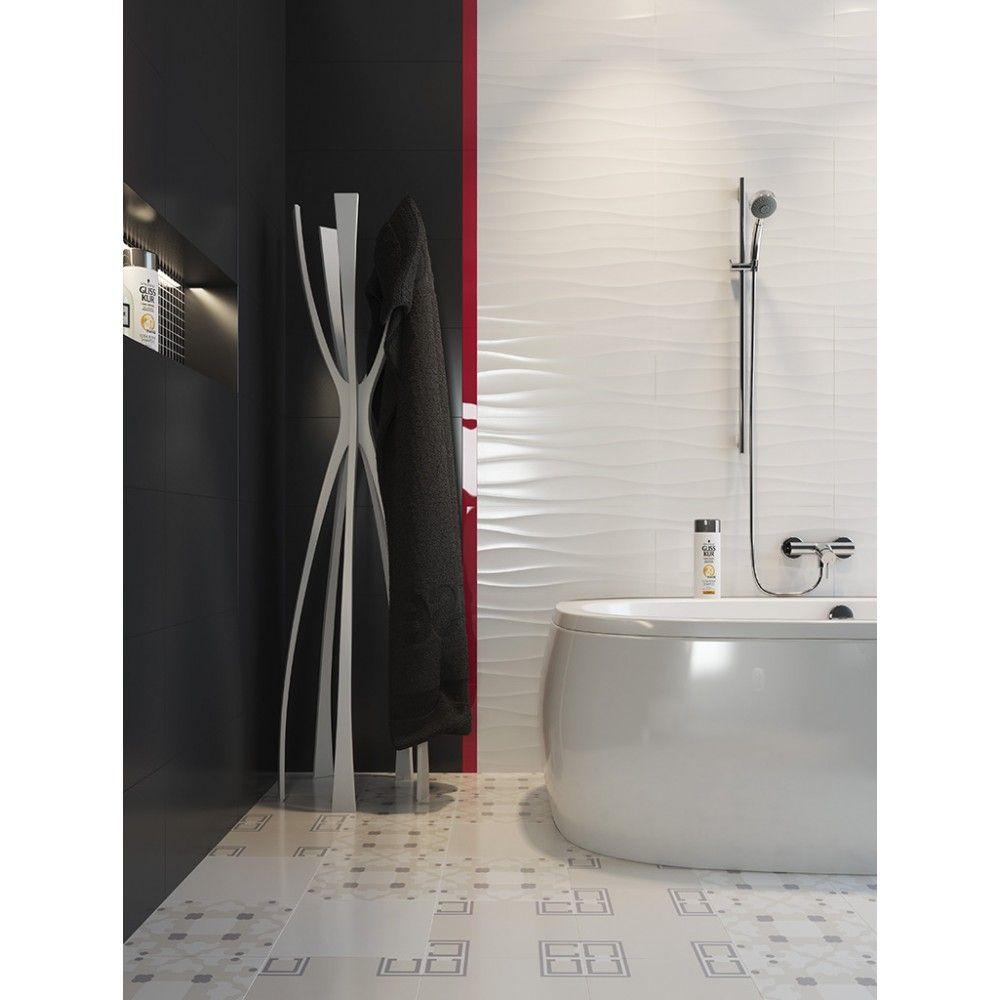 Decorative Wall Tiles Bathroom Barletta Wave White Glossy Gloss 3d Daccor Feature Wall Tiles