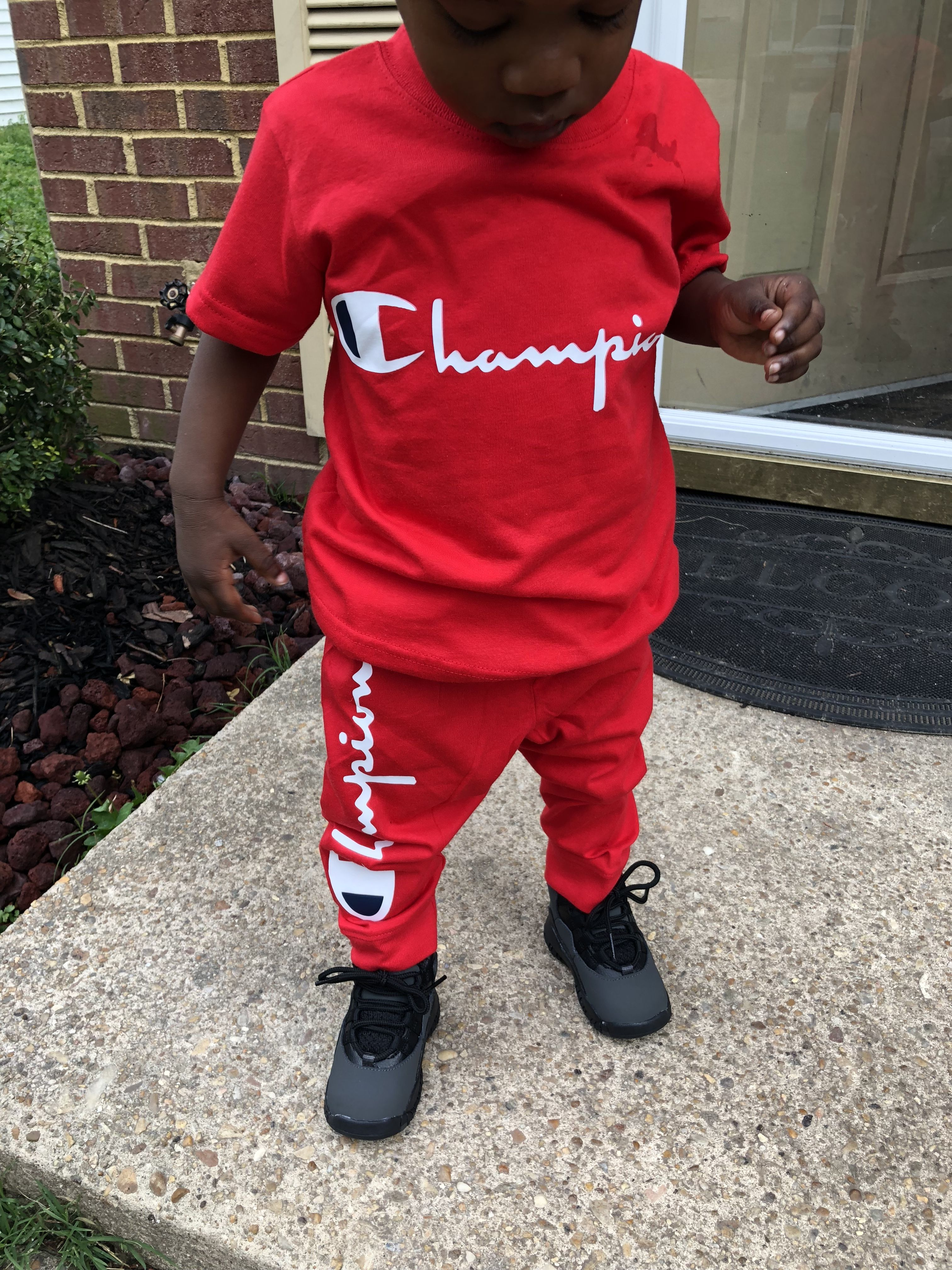 a18a4f92d Toddler champion outfit Champion Shoes, Baby Kicking, Baby Boy Swag, Baby  Boy Outfits