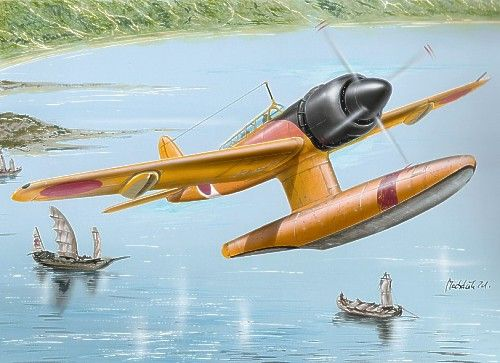 """The Kawanishi E15K Shiun (紫雲, """"Violet Cloud"""") was a single-engined Japanese reconnaissance floatplane of World War II. The Allied reporting name for the type was """"Norm"""" after Squadron Leader Norman O. Clappison of the RAAF, a member of the Allied Technical Air Intelligence Unit (ATAIU)."""