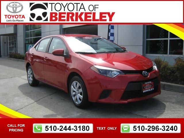 2017 Toyota Corolla Le Red 15 790 32474 Miles 510 244 3180 Transmission Automatic Used Cars Toyotaofberkeley Berkeley Ca Tapcars