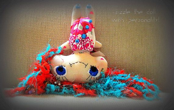 SOLD!!! CUTE colorful cloth Doll by janeylaughs on Etsy, $59.00