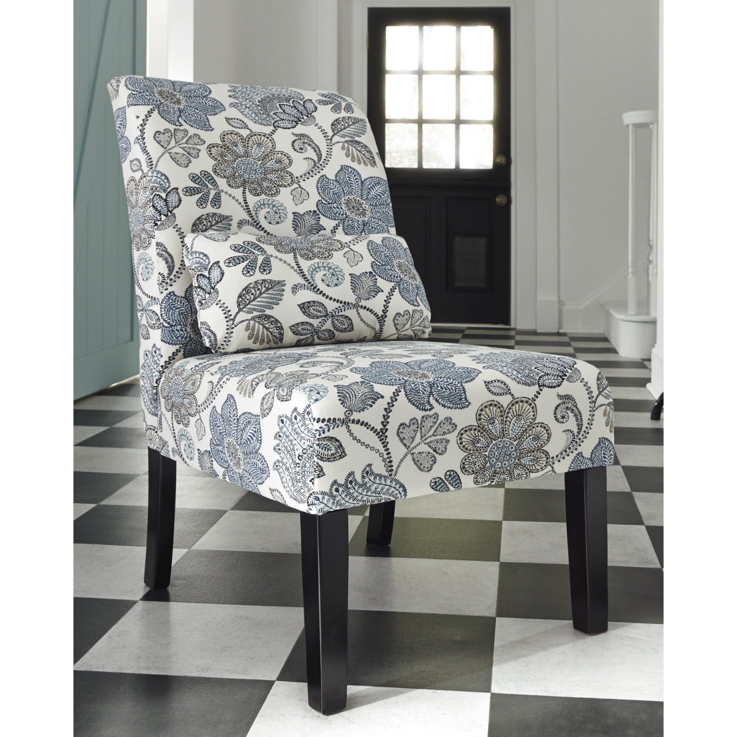 Best Signature Design By Ashley Sesto Cream Blue Floral Accent 400 x 300