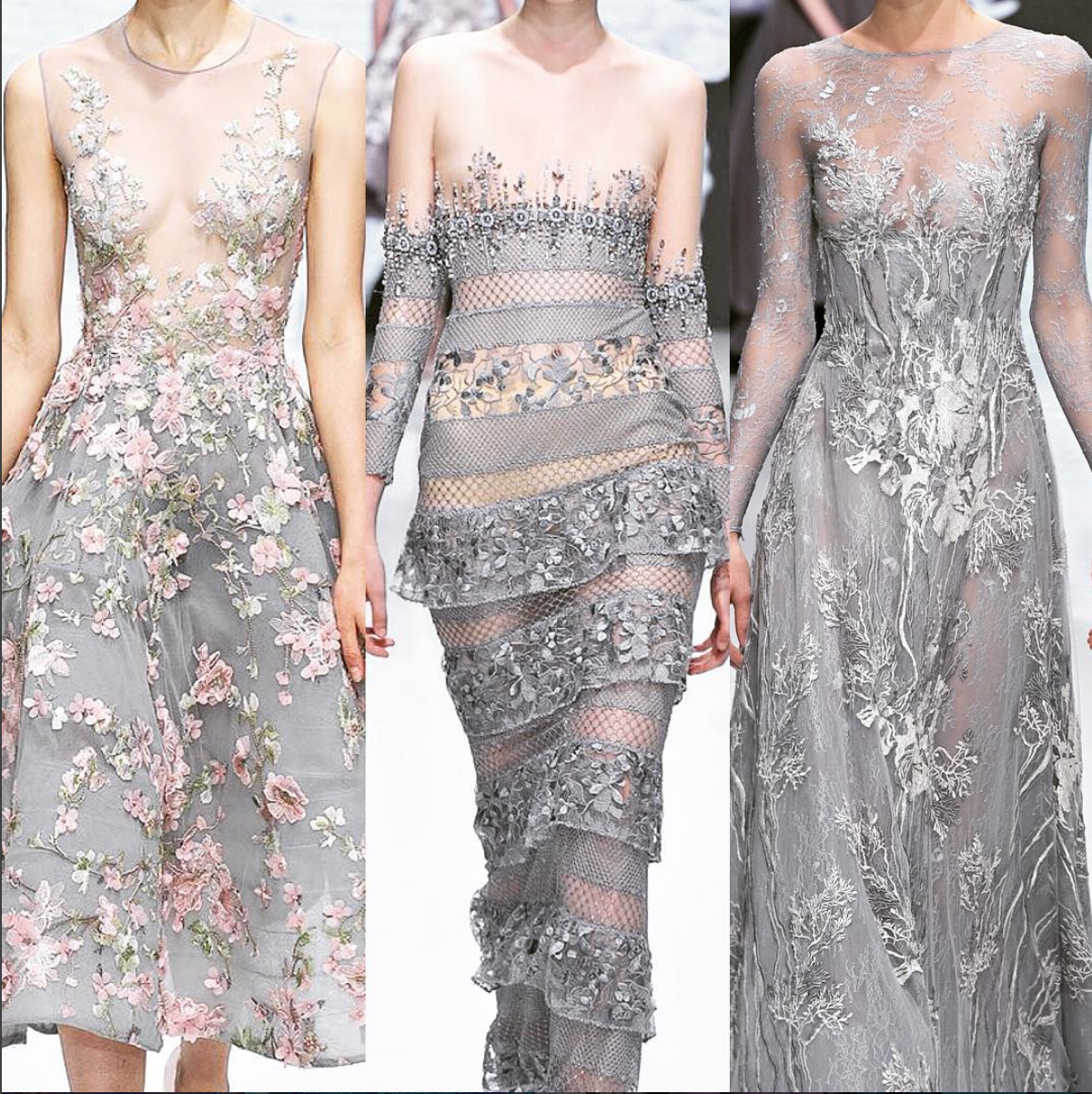 Best dress to wear to a garden wedding  That Michael Cinco dress on the left but with more coverage is a