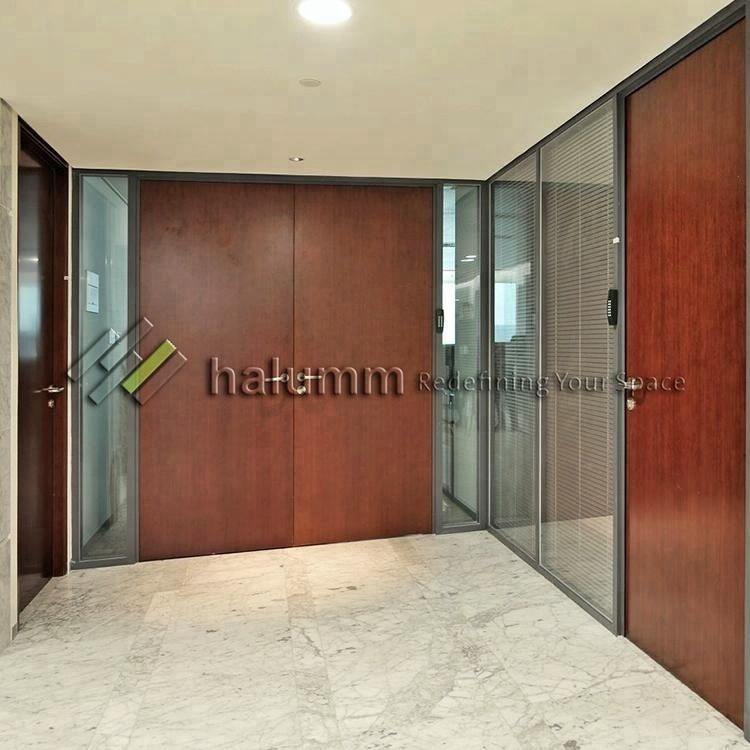 Aluminum Office Partition Mdf Panel With Double Faced Melamine