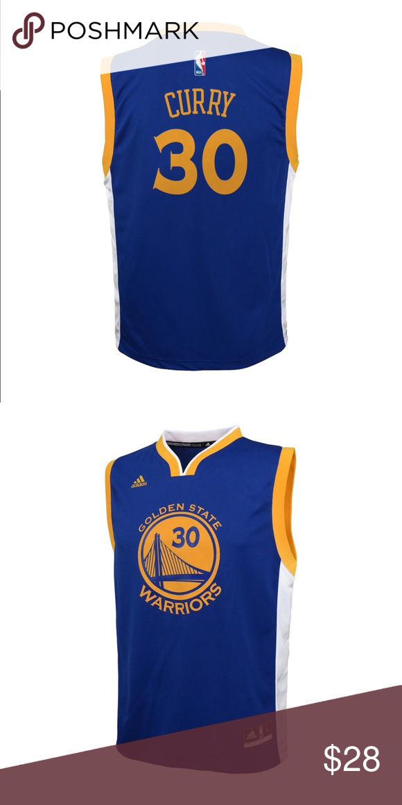 NWT Adidas GSW Stephen Curry NBA Replica Jersey Featuring