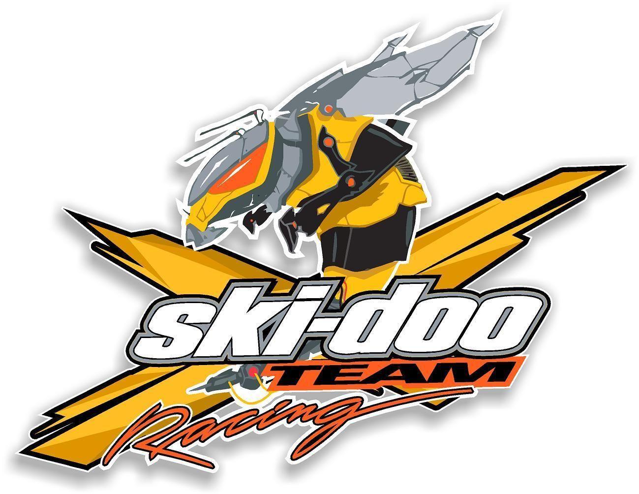 WHITE SKI-DOO Team-X Logo 4 Pack Vinyl Vehicle Window Sticker Graphics Decal