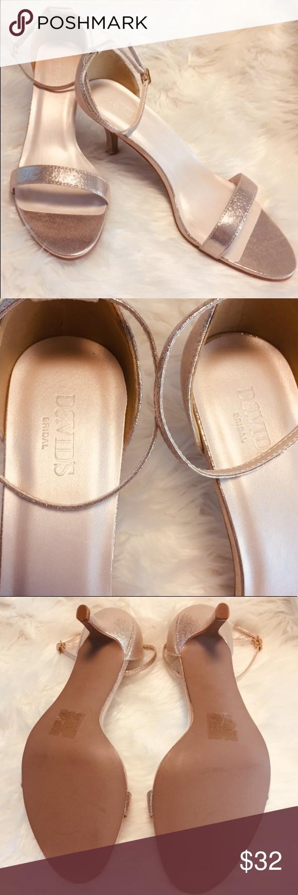 12W Formal Gold Metallic Sandals Heels