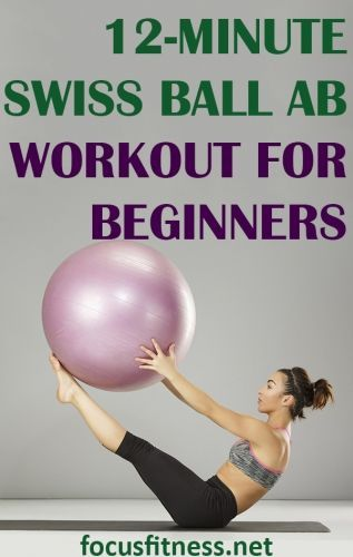 12-Minute Swiss Ball (Stability Ball) Ab Workout for Beginners - Focus Fitness #exerciseball