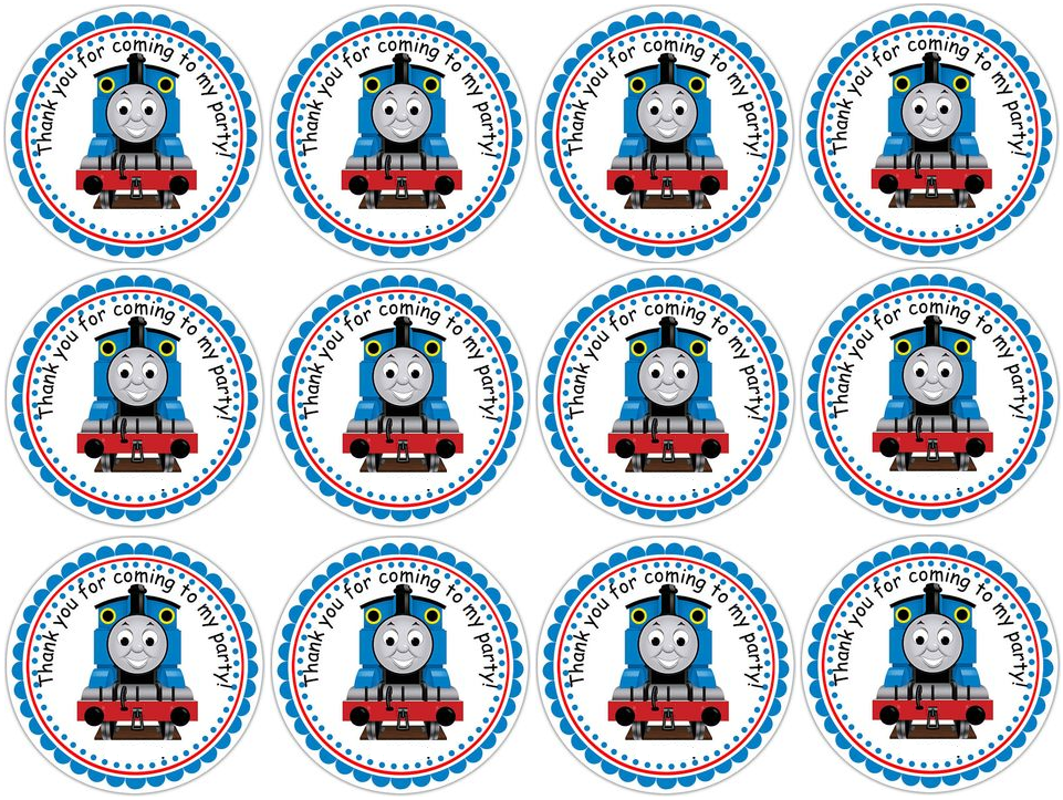 It is a photo of Smart Free Printable Thomas the Train Cup Cake Toppers