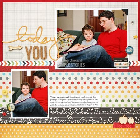 Layout created by design team member Donna Jannuzzi using our Smarty Pants collection