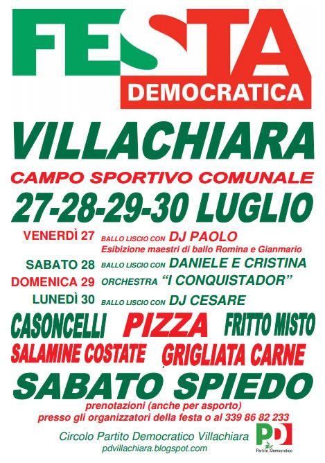 festa democratica di villachiara http://www.panesalamina.com/2012/1813-festa-democratica-a-villachiara.html