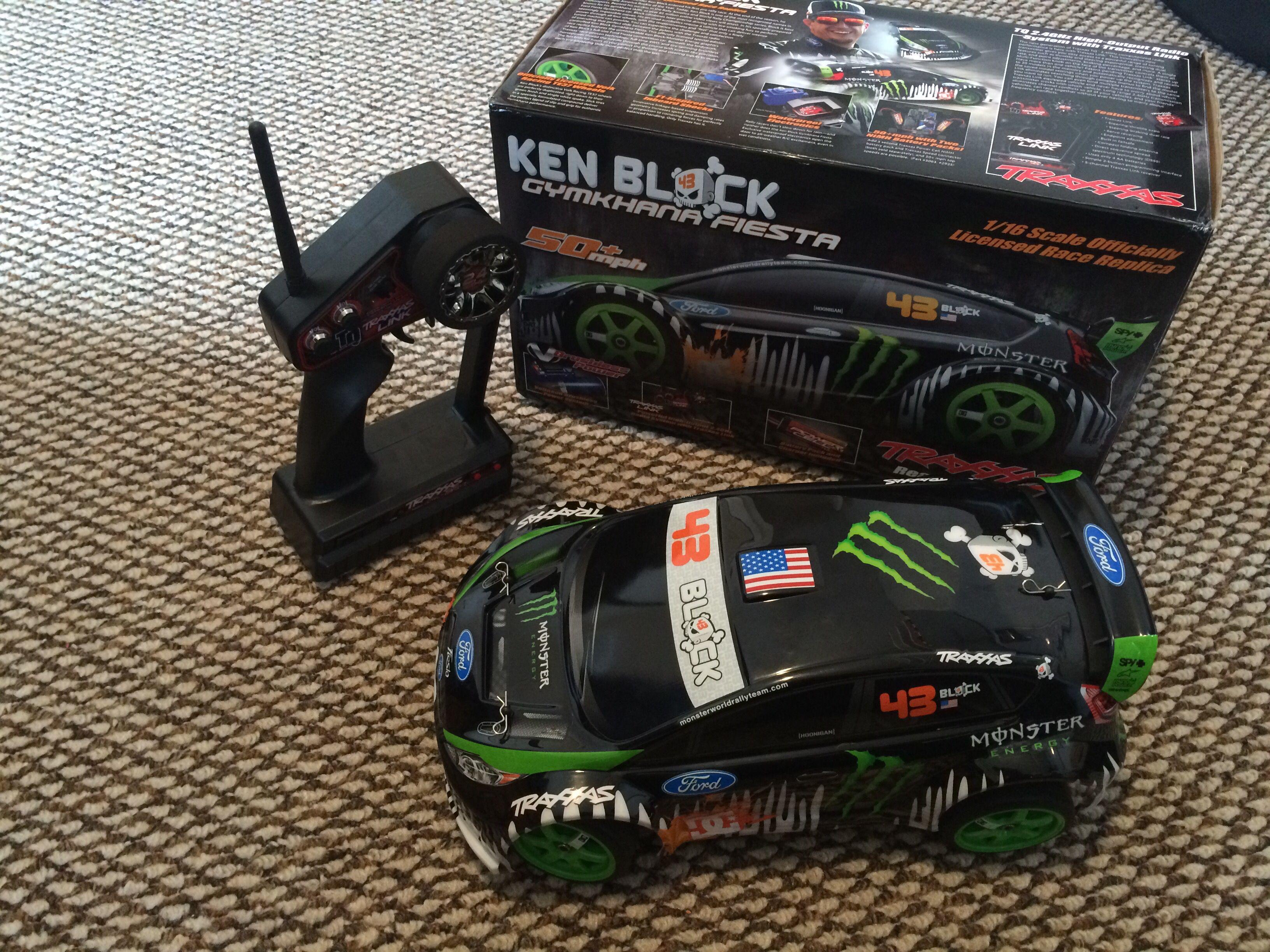 I got this for Christmas it is a traxxas ken block gymkhana fiesta drift car