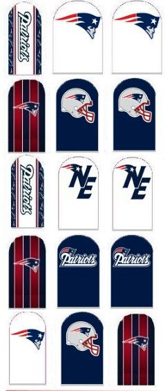 New England Patriots Nail Decal by IrocHipHopNailDecals on Etsy ...