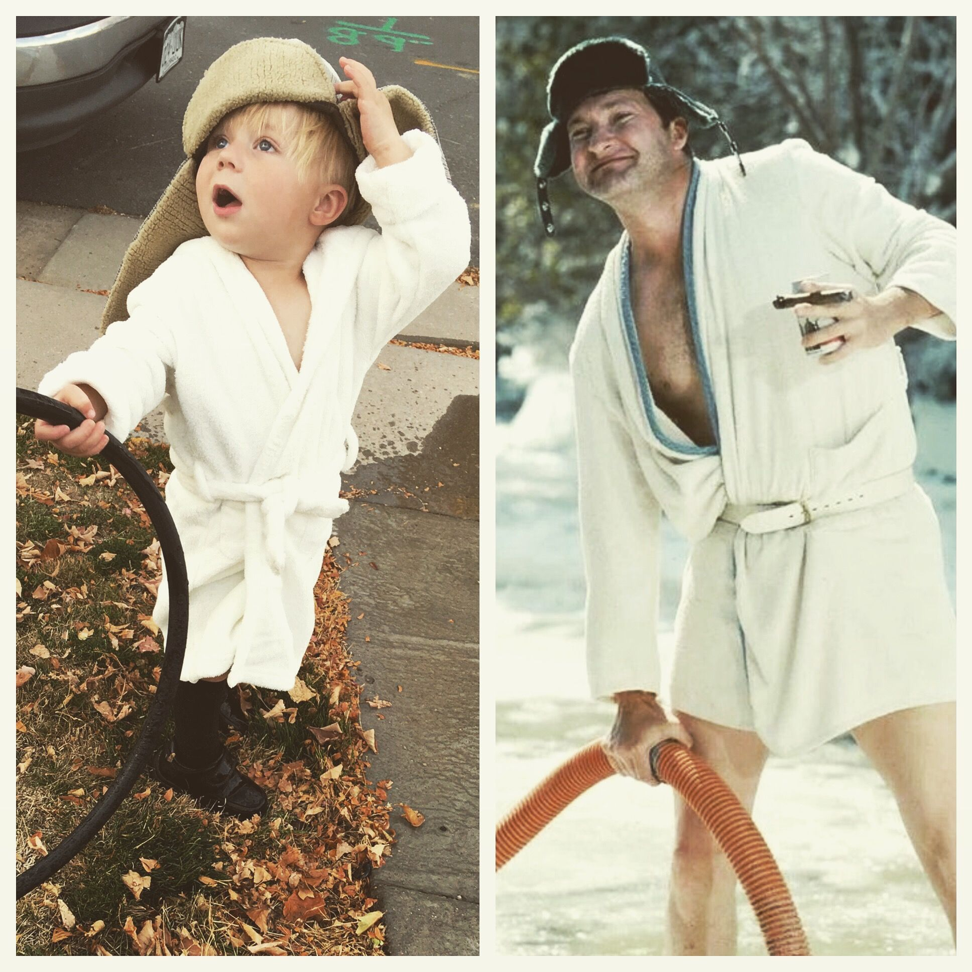 Funny, cheap, kids Halloween costume. Cousin Eddie from