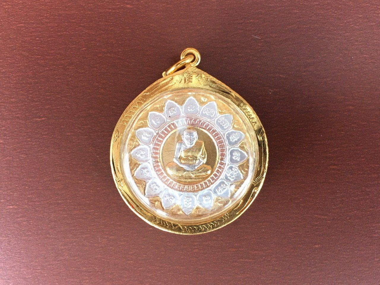 Picture Buddhist Monk Thai Amulet LP Thuad Magic Power Protect Luck Wealth