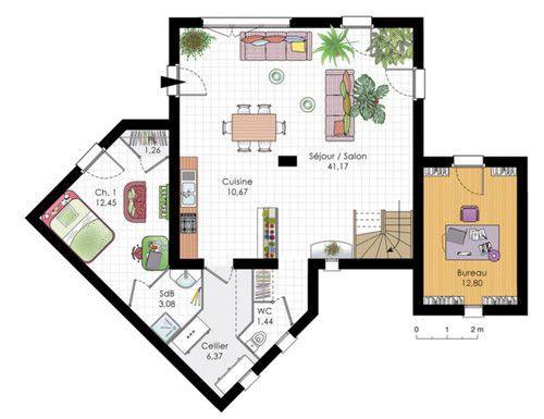 Maison Moderne   Détail Du Plan De Maison Moderne | Faire Construire Sa  Maison