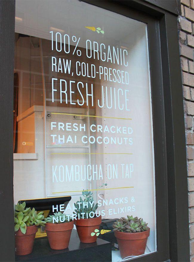 Living Greens Shop Signage Cafe Window Cafe Signage