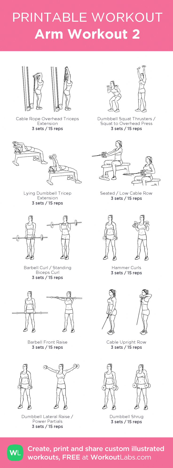Arm Workout 2: created at WorkoutLabs.com #NoEquipmentArmWorkouts #beginnerarmworkouts Arm Workout 2: created at WorkoutLabs.com #NoEquipmentArmWorkouts #beginnerarmworkouts