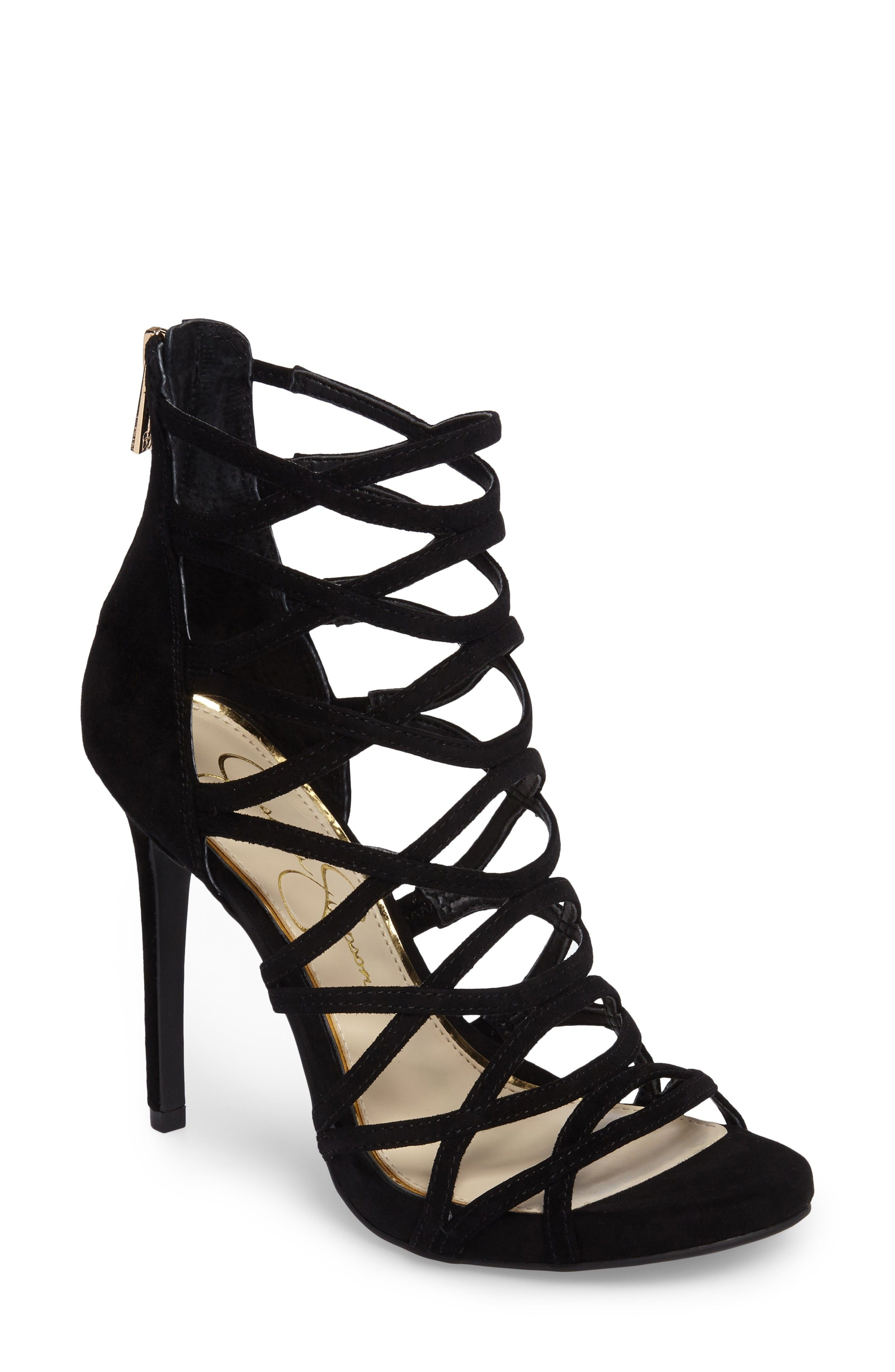 389b26f54704 These sexy black  Razella Cage Sandal  by Jessica Simpson are 50% off!