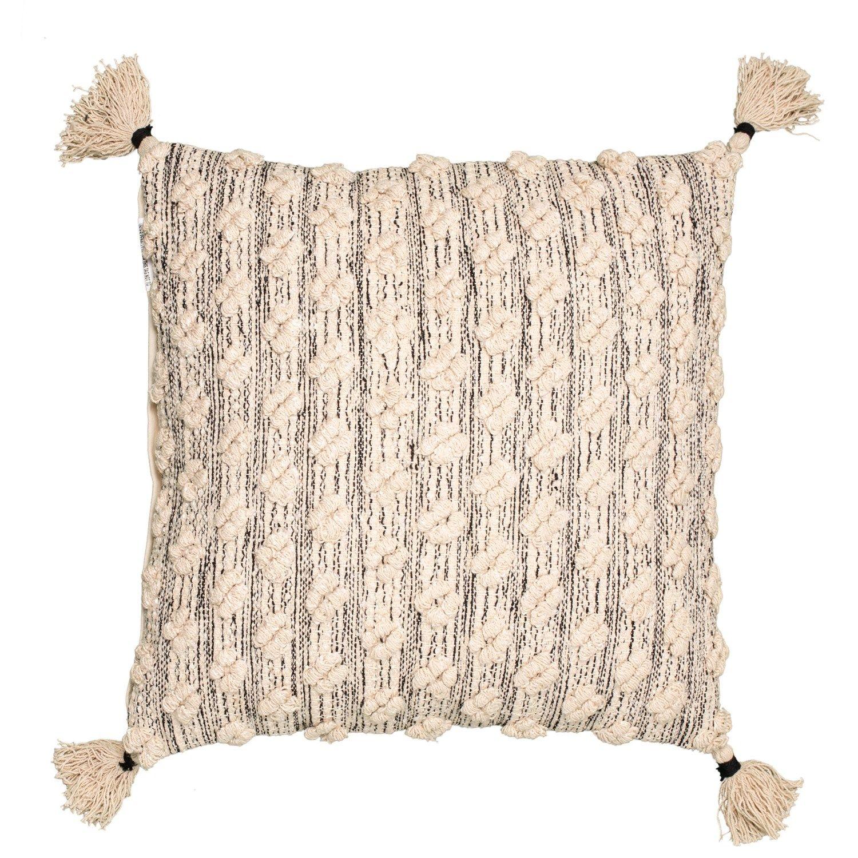 Spencer Barlow Natural Textured Throw Pillow 22x22 Throw Pillows Textured Throw Pillows Natural Texture