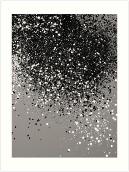 Silver Gray Glitter 1 Shiny Decor Art Art Print By Anitabellajantz Art Prints Glitter Wallpaper Sparkles Background