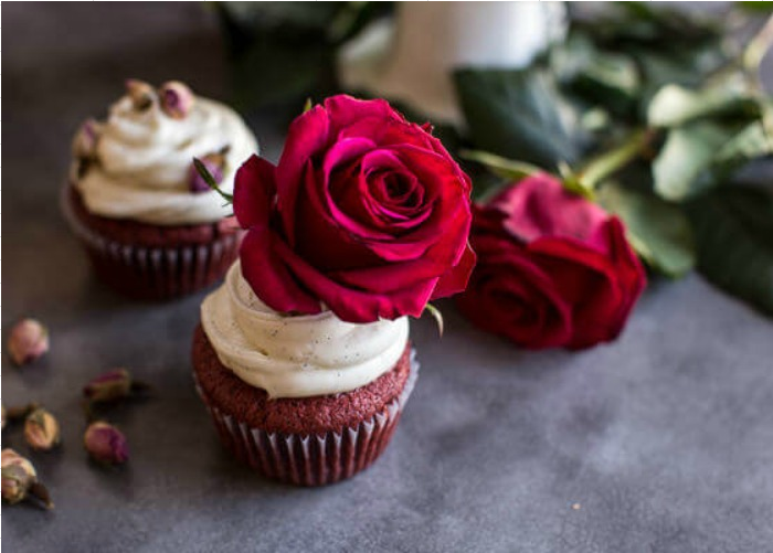 Deep, Dark and Rosy Red Velvet Cupcakes