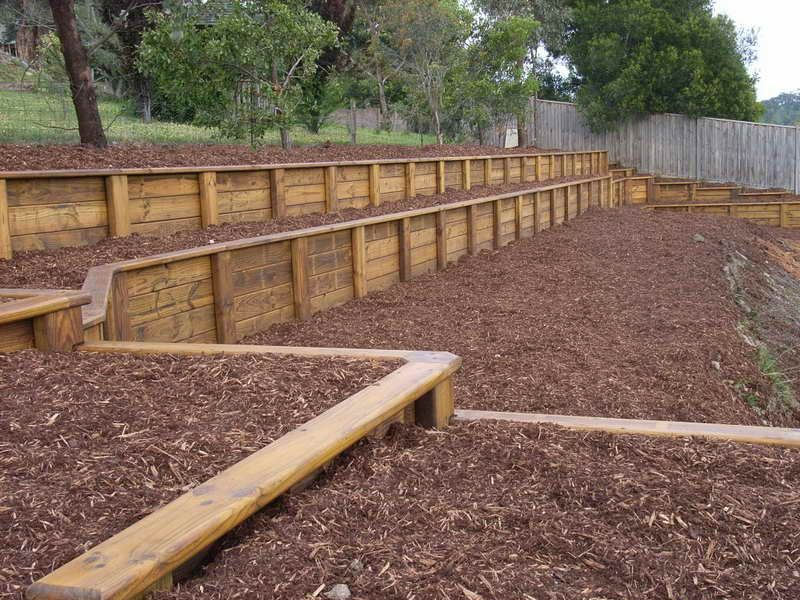 diy retaining wall simple steps for building retaining wall with wooden material - Timber Retaining Wall Designs
