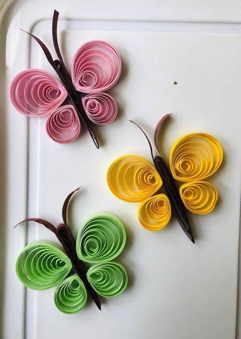 Quilling Art Butterflies Butterfly Paper Butterfly Home Decor