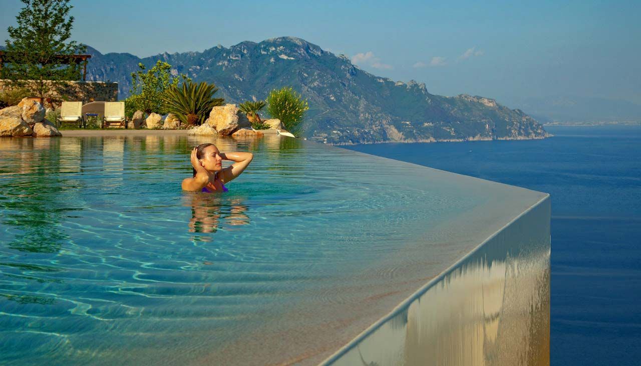 Infinity Pool Over The Amalfi Coast At Monastero Santa Rosa