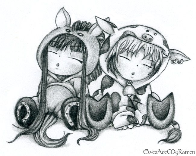 Fruits Basket Haru And Rin By ElvesAteMyRamendeviantart On