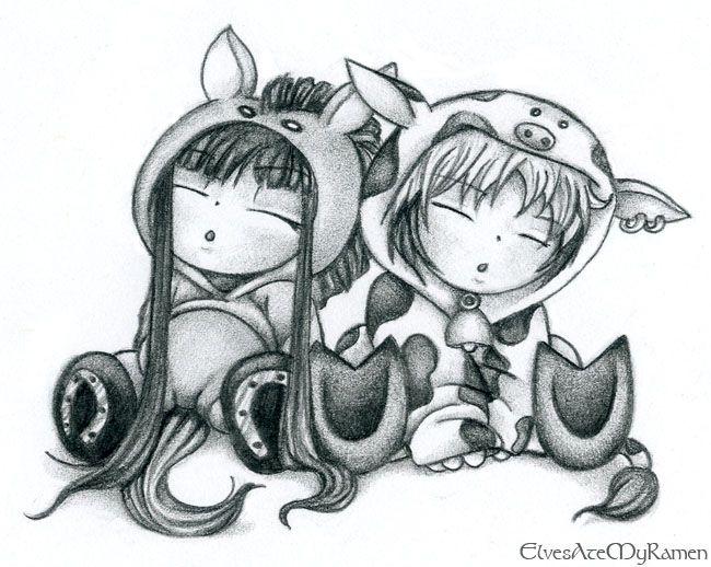 Fruits Basket Haru And Rin By ElvesAteMyRamendeviantart On