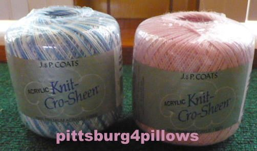 New Listing - J.P. Coats - Acrylic - Knit Cro Sheen - Crochet Thread - Price Is For All by pittsburgh4pillows on Etsy