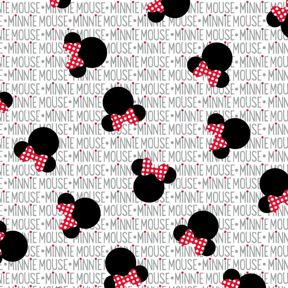 1 yard Disney Minnie Hearts Fabric