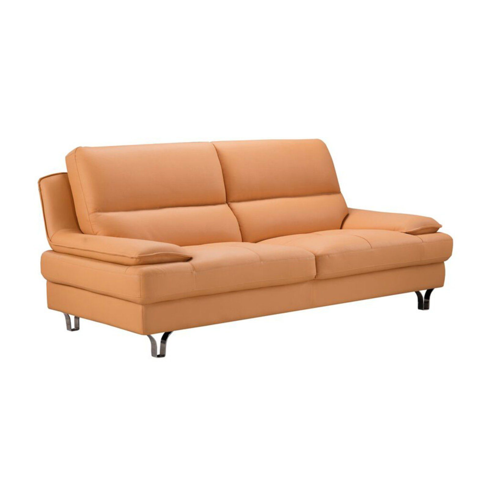 American Eagle Furniture Georgiana Leather Beige: American Eagle Furniture Harrison Sofa Yellow