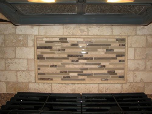 travertine tile backsplash travertine tile backsplash with glass tile mosaic - Glass Tiles For Backsplash