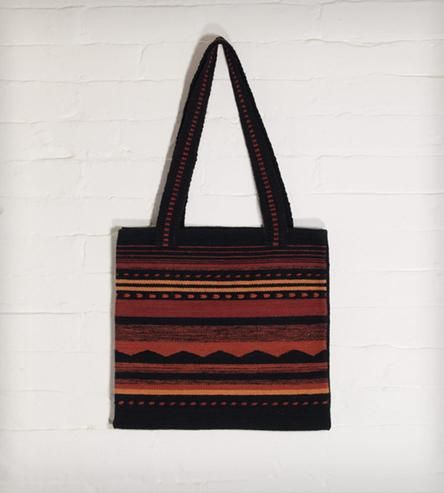 Lunatic Tote Bag    This 100% wool bag is hand-woven in Peru, using fair wages and...   Handbags