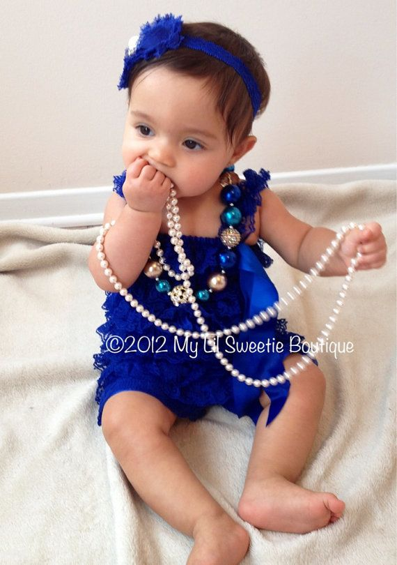 364749f6fb514 Royal Blue petti romper, vintage style romper, ruffle romper, infant ...