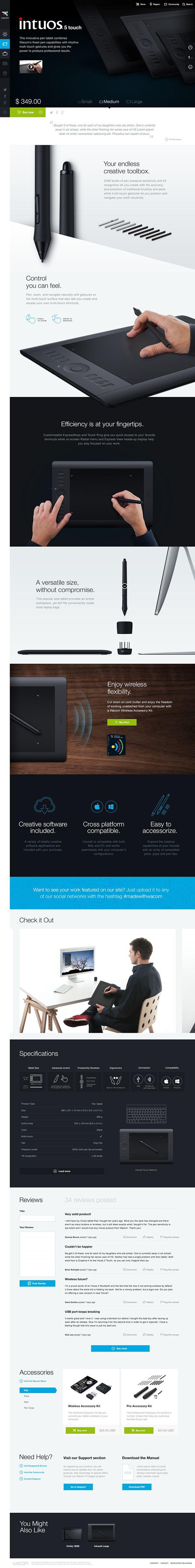 Wacom.com Re-Design by Tobias van Schneider, via Behance
