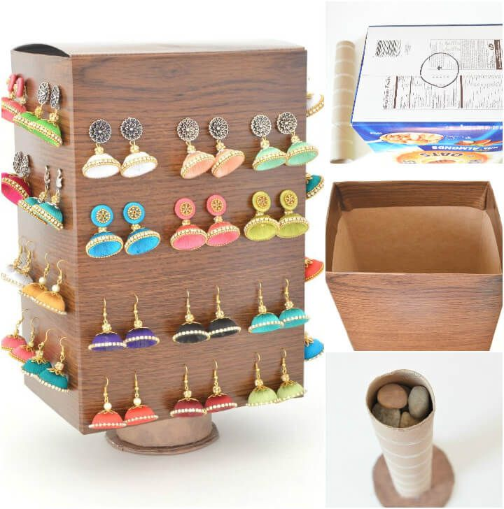 100 DIY Jewelry Organizers & Storage Ideas - Full Tutorials -   19 cardboard crafts organizers
