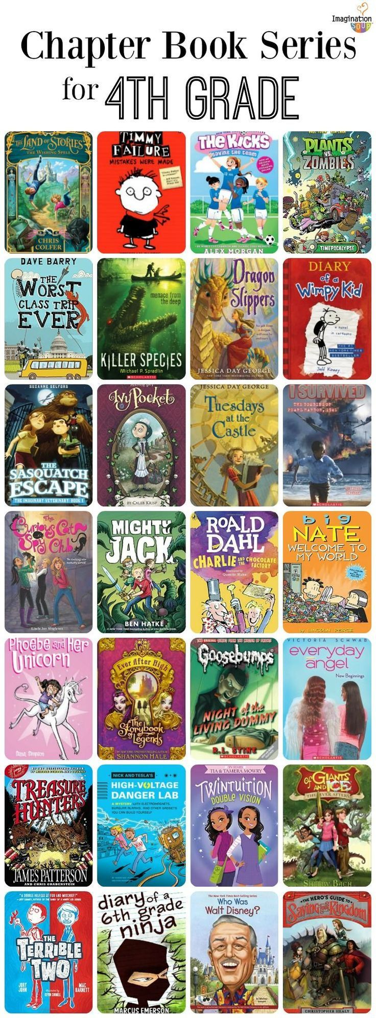 addicting chapter books series for 4th grade (fourth graders)