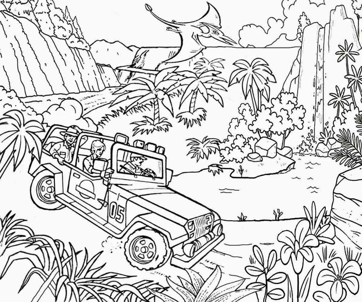 Best Adventure Jurassic Park Coloring Pages Womanmate