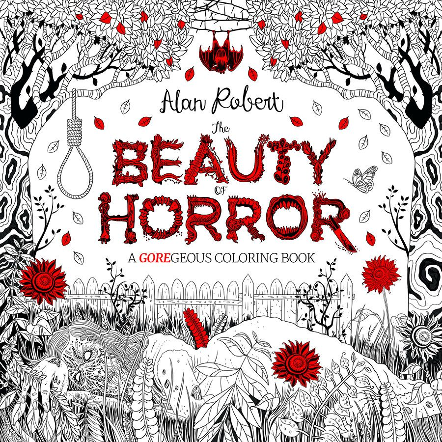 The Beauty of Horror Coloring Book by Alan Robert | Coloring Wish ...