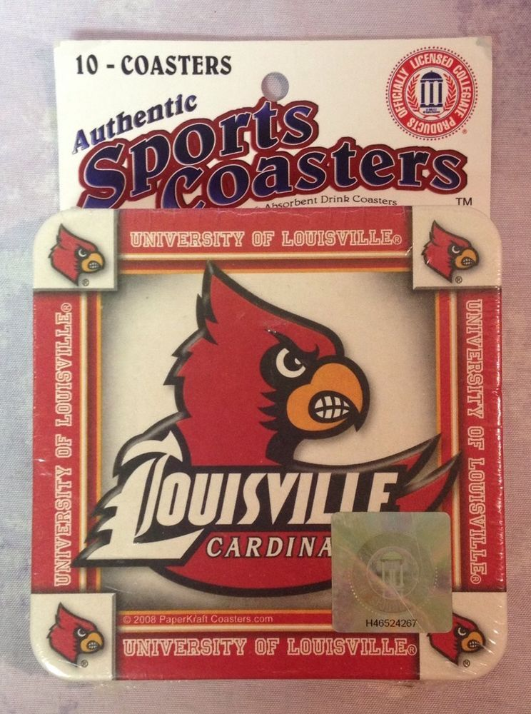 Louisville Cardinals Coasters University of Louisville